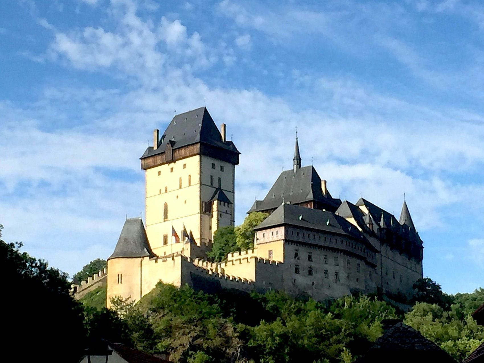 Karlstejn Castle in Czech Republic a history sight along the way is the best daytrip from Prague