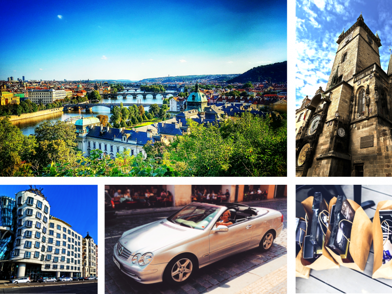 the best way to move around prague in a private cabriolet to go sightseeing or shopping