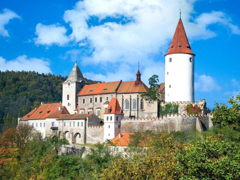 medieval royal, gothic, castle Krivoklat, Central Bohemia, Czech republic, tour out of Prague, private