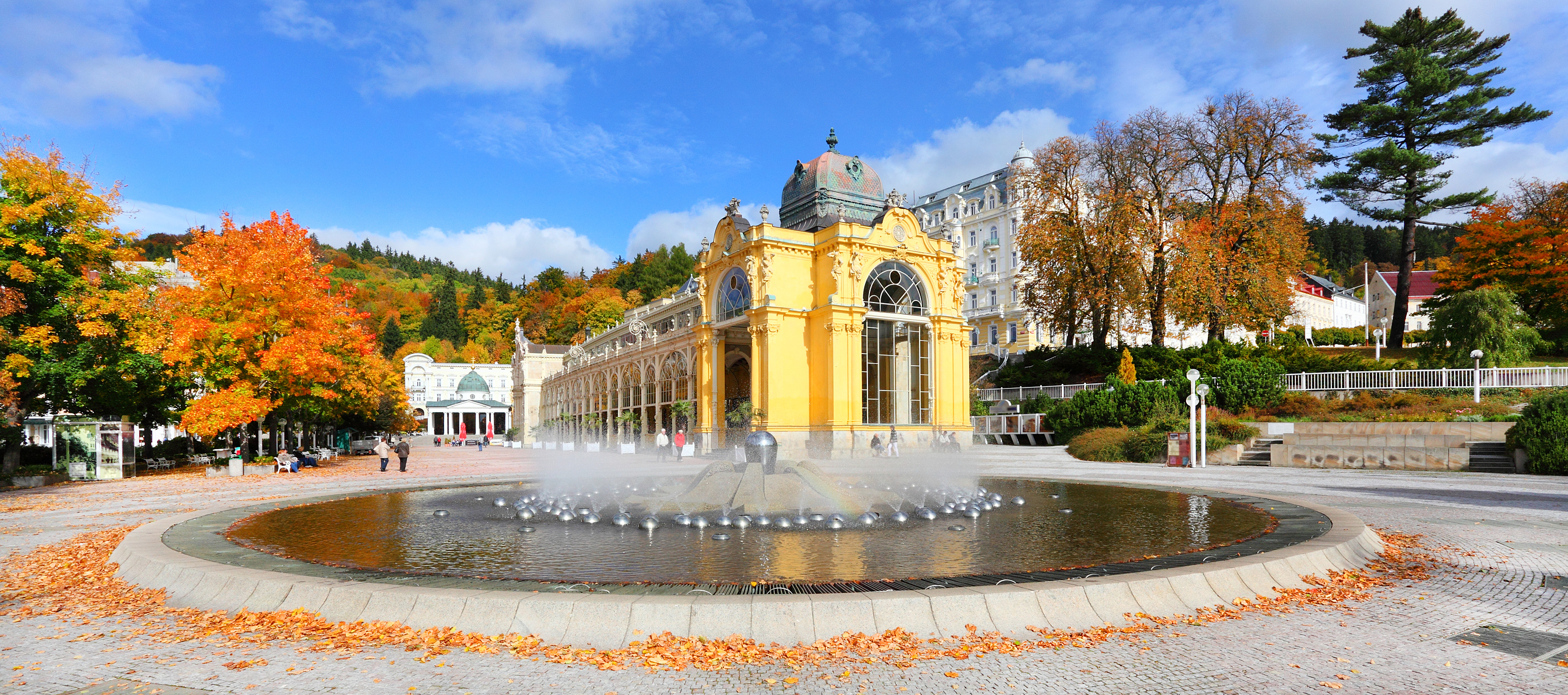 Marianske Lazne Spa, Singing fountain, Czech Republic, thermal bads, private daytrip, english tour
