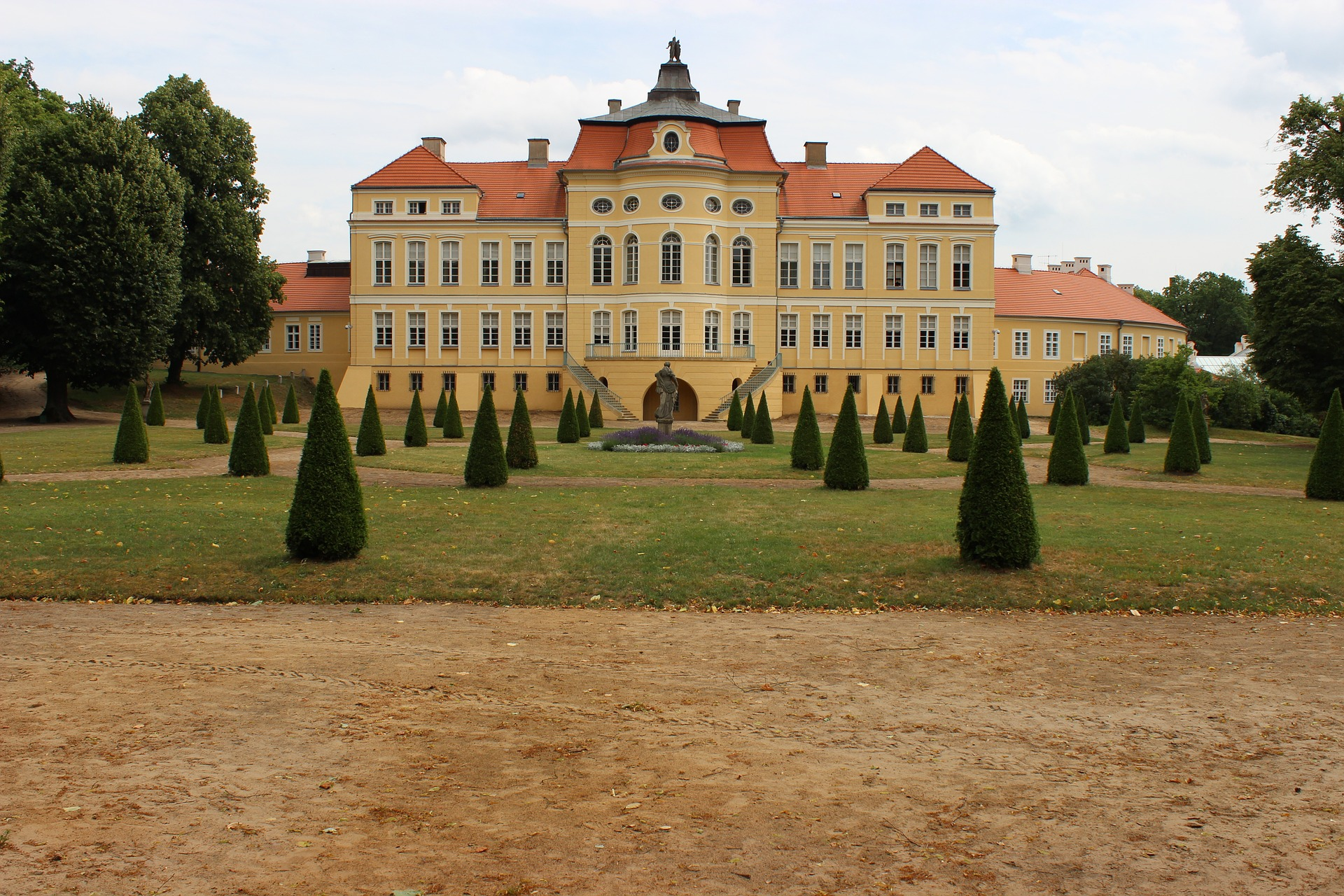 Baroque Rogalin Palace in Poland with exhibition of Paul Delaroche, Claude Monet, and Jan Matejko's Joanna d'Arc.